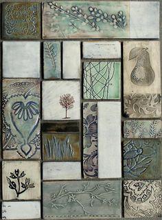 Dotti Potts Pottery-Pottery, fashion jewellery, earrings and rings Ceramic Tile Art, Clay Tiles, Ceramic Plates, Ceramic Clay, Ceramics Tile, Slab Pottery, Ceramic Pottery, Pottery Techniques, Tile Murals