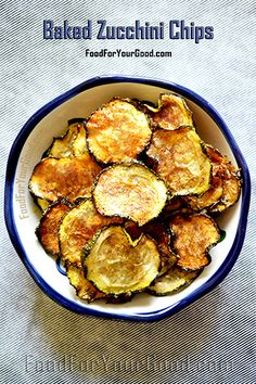 Baked Zucchini Chips recipe: FoodForYourGood.com