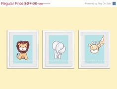 SALE Lion art baby nursery art print baby boy nursery by rkdsign88