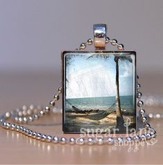Hey, I found this really awesome Etsy listing at https://www.etsy.com/listing/70784145/vintage-beach-hammock-necklace-svh3-sky