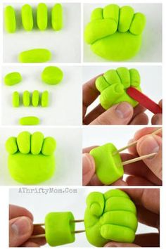 Image result for how to make hulk hand out of fondant