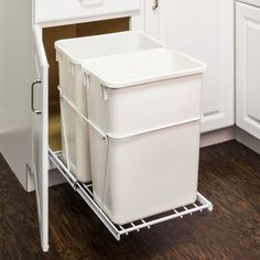 35-quart Double Pullout Waste Container System CAN-EBMDW-R