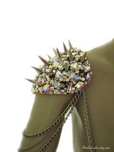 Wow. I love these! Aurora Borealis Epaulettes Reserved for Najlaa by binkaminka. $425.00, via Etsy.