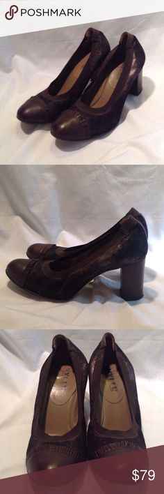 Hand-made in Italy Anyi Lu Pumps Chocolate brown leather and bronze suede cap toe pumps from Anyi Lu. Size 39.5 EU, but Anyi Lu sizing runs smaller. Hand made in Italy. Super comfortable. Anyi Lu Shoes Heels