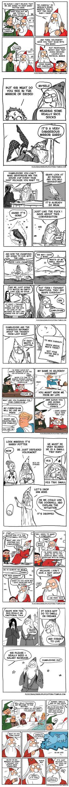 "10+ Funny ""Harry Potter"" Comics Reveal How Irresponsible Dumbledore Was"