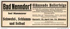 Original-Werbung/ Anzeige 1928 - BAD NENNDORF BEI HANNOVER - ca 140 x 55 mm