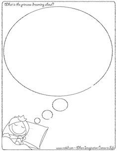 What is the princess dreaming about? CreKid.com - Creative Drawing Printouts - Spark your child's imagination and creativity. So much more than just a coloring page. Preschool - Pre K - Kindergarten - 1st Grade - 2nd Grade - 3rd Grade. www.crekid.com