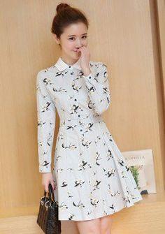 Buy Floral Fit & Flare Shirt Dress | mysallyfashion.com Malaysia