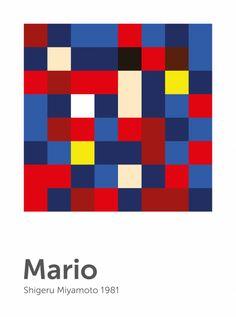 Scrambled Mario Poster  by Laura Vidal