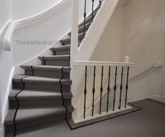 Nog een trap in 3 kleuren. Net een loper maar toch volledig bekleed. Trapbekleding.nl