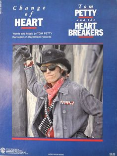 """Tom Petty & The Heartbreakers """"Change of Heart"""" Piano/Vocal/Guitar Sheet Music, 1983. RIP Tom Petty! Rare artifact for the ultimate fan - this would even look good framed on the wall. Here's Our Wide Selection of Sheet Music Song Books. 