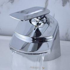 Amazon.com: LightInTheBox Contemporary Waterfall Bathroom Sink Faucet (Chrome Finish): Home Improvement