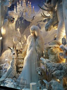 A Bergdorf Goodman Christmas window display