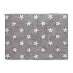 99€ - ALFOMBRA ESTRELLA GRIS STARS WHITE-LORENA CANALS 100% algodón y tiene unas medidas de 120cmx160 cm.Cumple con todas las normativas: tintes no tóxicos, certificado AIRTEX