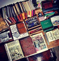 "613 Likes, 16 Comments - Start Bay Notebooks (@startbaynotebooks) on Instagram: ""More desk - with some fine publications on it  #travelersnotebook #traveljournal #leathernotebook…"""