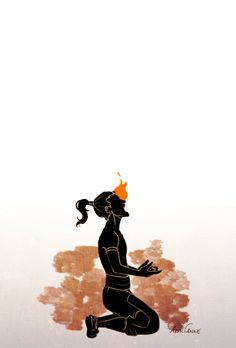 articianne: Zuko's first Agni Kai. The ponytail and flames are animated.