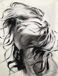 Ewa Hauton oil on canvas Pencil Art Drawings, Cool Art Drawings, Art Drawings Sketches, Charcoal Art, Art Sketchbook, Portrait Art, Female Portrait, Face Art, Painting & Drawing