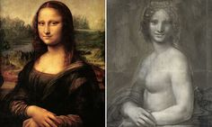 French scientists believe a charcoal drawing of a topless woman is indeed an early sketch of the Mona Lisa - done by Da Vinci himself. Mona Lisa, Renaissance Artists, Art Articles, Photoshop, Oise, Naha, Charcoal Drawing, French Art, Cartography