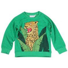 Mini Rodini Jaguar Sweatshirt In Green
