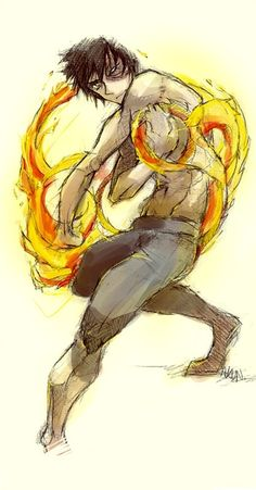 Zuko. I don't know why, but I like how his hand is under his other arm in this drawing.