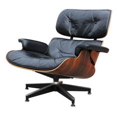 Rosewood Eames Lounge Chair | From a unique collection of antique and modern lounge chairs at https://www.1stdibs.com/furniture/seating/lounge-chairs/