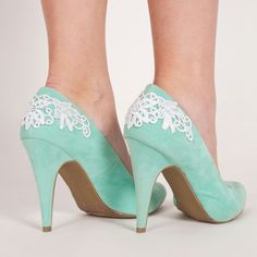 All Laced Up - Embellish your favorite Heels to make them even better! #DIY #Tutorial #Project #mint #shoes #heels