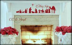 Christmas Nativity Scene Vinyl Wall Art ...put on wood???