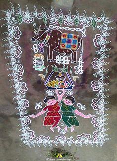 Rangoli Borders, Rangoli Border Designs, Rangoli Patterns, Rangoli Designs With Dots, Rangoli Designs Images, Rangoli With Dots, Kolam Rangoli, Rangoli Designs Simple Diwali, Rangoli Designs Latest