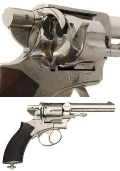 The Silver and Fletcher Royal Irish Constabulary Revolver, The Royal Irish Constabulary was the main national police force of Ireland during British rule. The RIC was armed with the Webley and Scott No. 1 RIC revolver, a double action centerfire cartridge revolver chambered in .450.  In the late 1880's a few hundred RIC revolvers were outfitted by Silver and Fletcher with their rare self ejecting system.  The hammer was removed and replaced with the Silver and Fletcher mechanism. A…