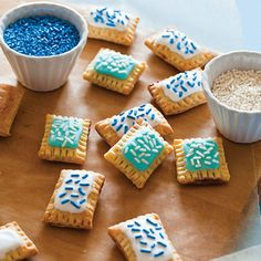 Get the recipe for these Cute Mini Pop Tarts from the new cookbook Tiny Food Party. I love tiny food. Mini Desserts, Mini Dessert Recipes, Delicious Desserts, Yummy Food, Dessert Healthy, Individual Desserts, Cold Desserts, Easter Recipes, Plated Desserts
