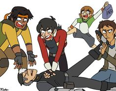 My friends and I recreated this draw the squad in real life once, I was the one I'm In the pose Pidge is in