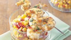 Coriander prawns and apricot salsa recipe - 9kitchen