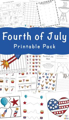 This Fourth Of July Printable Pack is full of literacy activities, math activities and more that are engaging and exciting for kids. Math Activities For Kids, Preschool Lessons, Kindergarten Worksheets, Educational Activities, Kids Learning, Preschool Rules, Map Activities, History Activities, School Worksheets