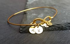 Personalized Gold or Silver Infinity Bangle | Birthday Gift for Mom | Eternity Loop Family Tree Jewelry | Infinity Bracelet |  Kids Initials