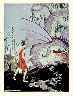 Art prints from all books published with illustrations by Virginia Frances Sterrett: Arabian Nights, Tanglewood Tales, and Old French Fairy Tales. Walter Crane, Art And Illustration, Vintage Illustrations, French Fairy Tales, Handwritten Text, Nathaniel Hawthorne, Fairytale Art, American Artists, Fantasy Art
