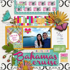 Grillin and Chillin Papers and Journal Cards from Little Butterfly Wings; Life In Color Papers and Elements from Etc. by Danyale, Staycation Word Art and the July 2017 BYOC Styles from Mommyish; Plenty o' Pics Templates from Miss Fish Templates