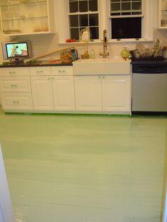DIY: Painted Kitchen Floor for $50! - Effortless Style Blog