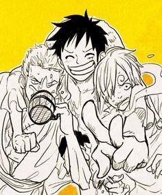 Zoro, Luffy and Sanji