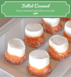 Dip in caramel and then roll in blue sprinkles--would be yummy for Chanukah (sdg)