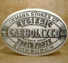 Oval Carbolized Tooth Paste Pot Lid & Base - Inmans of Edinburgh c1900 | eBay