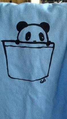 Panda-pocket t-shirts, So cute and creative!