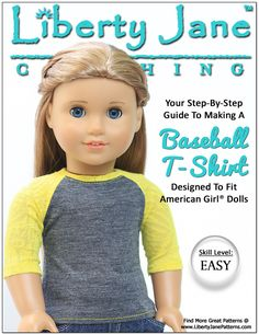 New Updated Baseball T-shirt Doll Clothes Pattern!