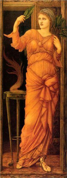 """Sibylla Delphica""  -  Edward Burne-Jones (c1868)"