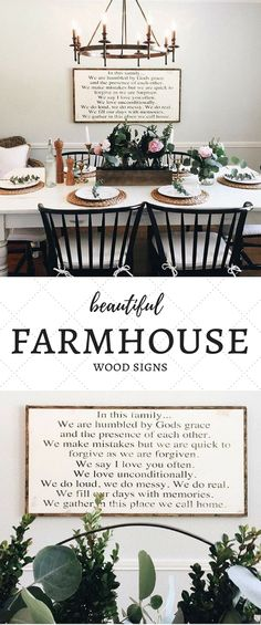 Graced House {Etsy} || Such beautiful farmhouse decor in this little shop! I love their faith-based product that provides such encouragement to all. These gorgeous signs are perfect for any part of the home ... Definitely that beautiful #farmhouse #fixerupper style we all ADORE! :)