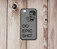 Epic Guy Iphone 4 4s 5 Case - Iphone 4s - Iphone 5 - Iphone 4 Cover - Funny i Phone Cases by Luv Your Case (196). $16.99, via Etsy.