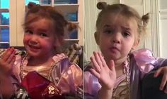 Toddler in a tiara: Watch this dramatic toddler dish about preschool #DailyMail