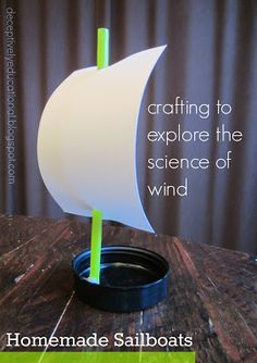 Relentlessly Fun, Deceptively Educational: Homemade Sailboats (the Science of Wind) Science Fair Projects, Science Lessons, Lessons For Kids, Projects For Kids, Science Week, Preschool Projects, Kindergarten Science, Teaching Science, Easy Science