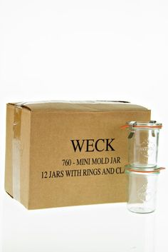 Amazon.com: Weck 760 Mini Mold Jar, 5.4 Ounce - 12 Jars: Kitchen & Dining