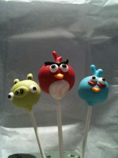 AngryBirds cake balls...these are just too cute