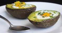 For a one-two punch of in your breakfast, try baking eggs in an avocado. Beyond the heart-healthy fatty acids and high protein count, this low-sugar Paleo Recipes, Low Carb Recipes, Avocado Egg Recipes, Perfect Eggs, Small Baking Dish, Vegetarian Paleo, Whole 30 Recipes, Low Sugar, Nachos